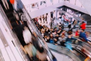 many-people-on-escalators